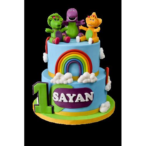 barney cake 22 7