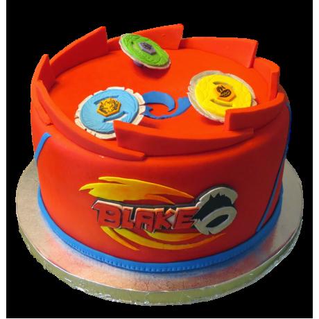 Beyblade cake red