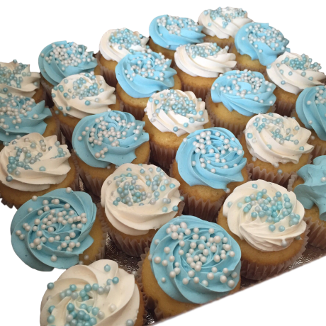 blue and white cupcakes 6