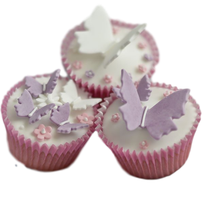 Flowers and butterflies cupcakes 3