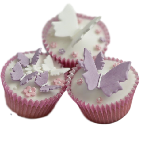 flowers and butterflies cupcakes 3 6