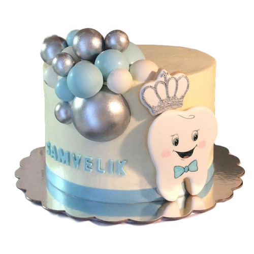 tooth cake 5 7