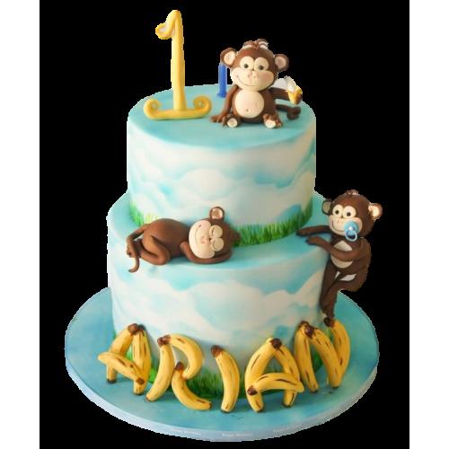 monkey cake 5 7