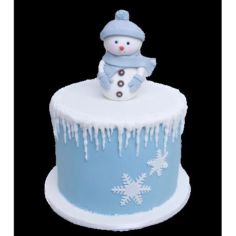 snowman cake 6