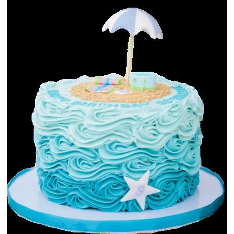beach theme cake 6