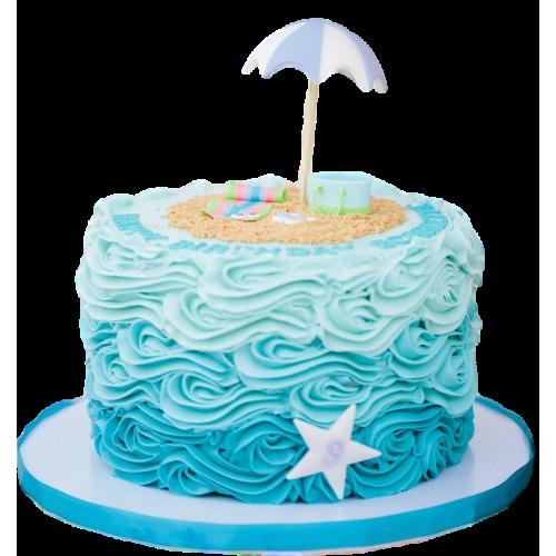 beach theme cake 7