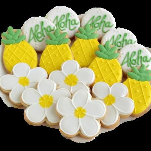 pineapple flower aloha shape cookies 7