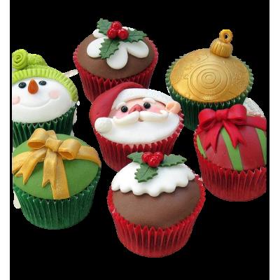 Christmas cupcakes 2