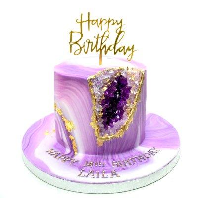 Violet geode cake