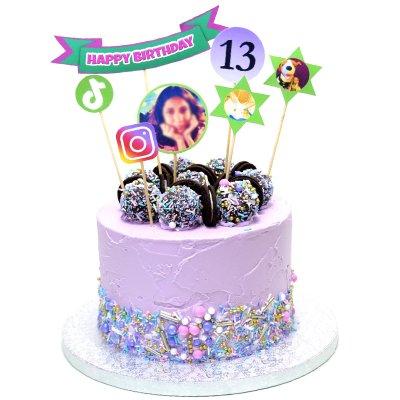 13th teenager birthday cake for girl