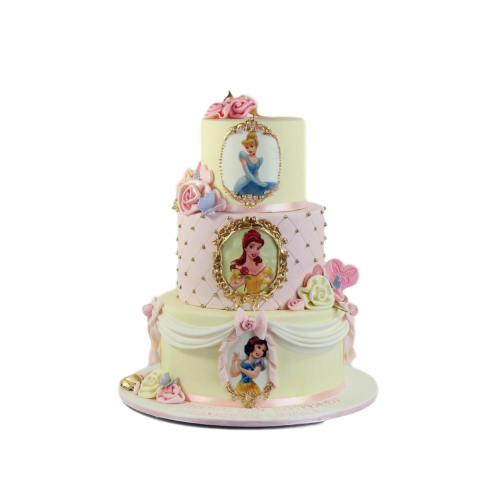 Disney Princesses Cake with photo 3