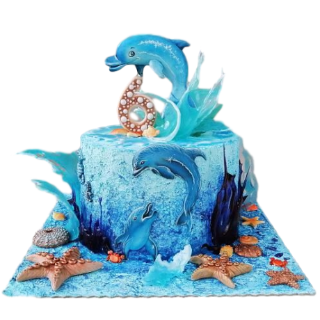 cake with dolphins 6