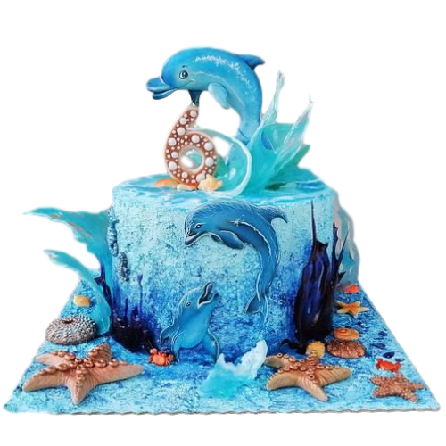 cake with dolphins 7