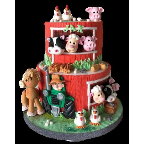 farm animals cake 6