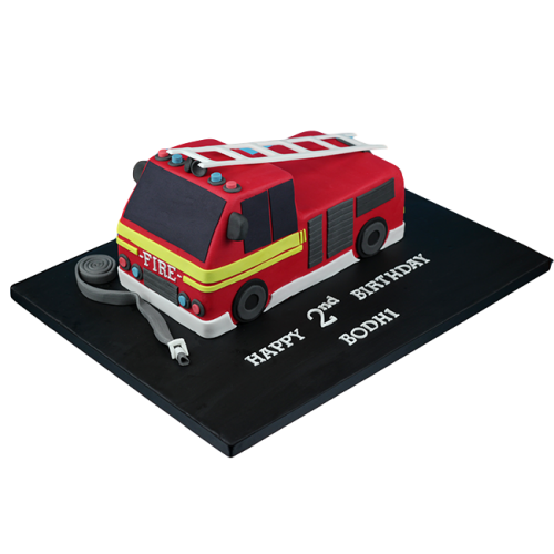 Fire Truck Cake 3
