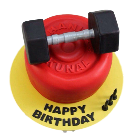 weights lifting fitness cake 3 6