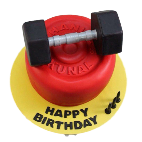Weights lifting fitness cake 3