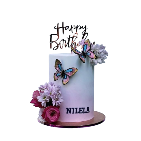 flowers and butterflies cake 3 6