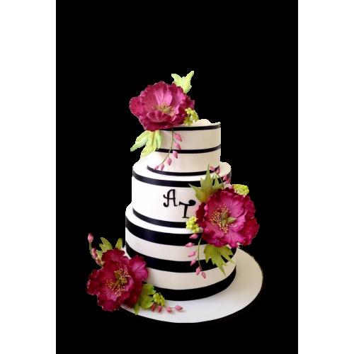 elegant cake with peonies 3 7