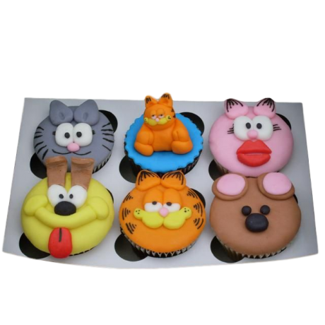 garfield & friends cupcakes 6