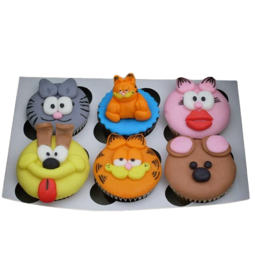 garfield & friends cupcakes 7