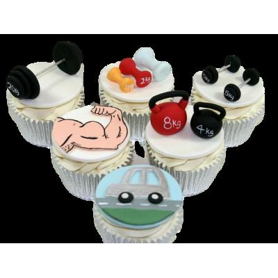 Fitness theme cupcakes