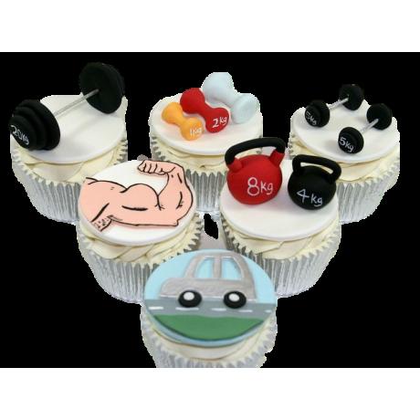 fitness theme cupcakes 6