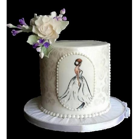 bridal dress cake 2 6