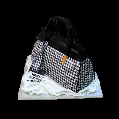houndstooth print tote bag 6