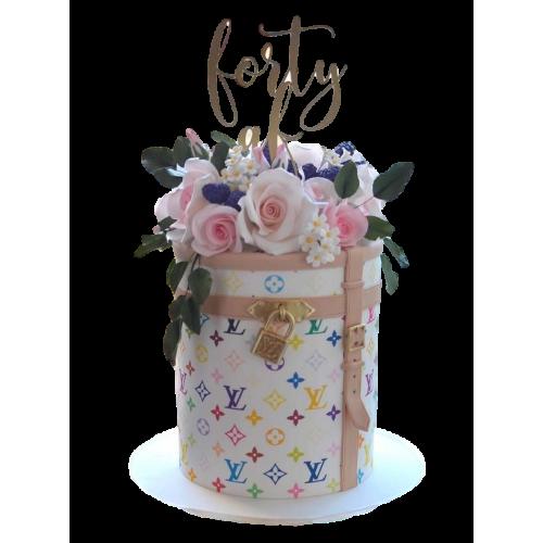 White Louis Vuitton Cake