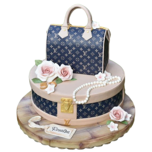 louis vuitton bag cake 7 7