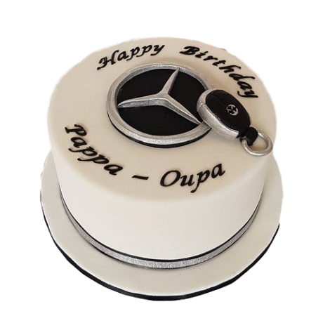 mercedes key cake 6