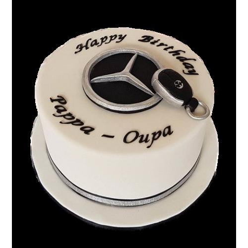 mercedes key cake 7