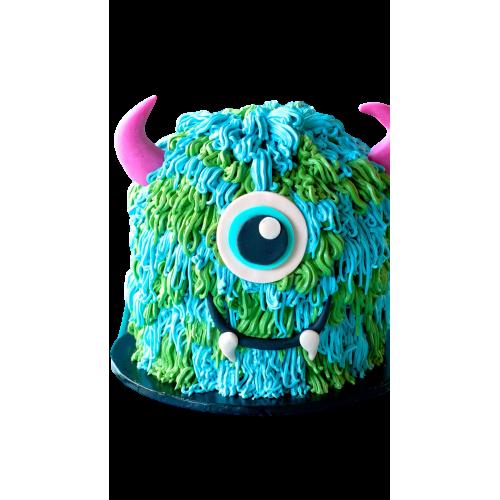 cake sulley - blue monster cake 7