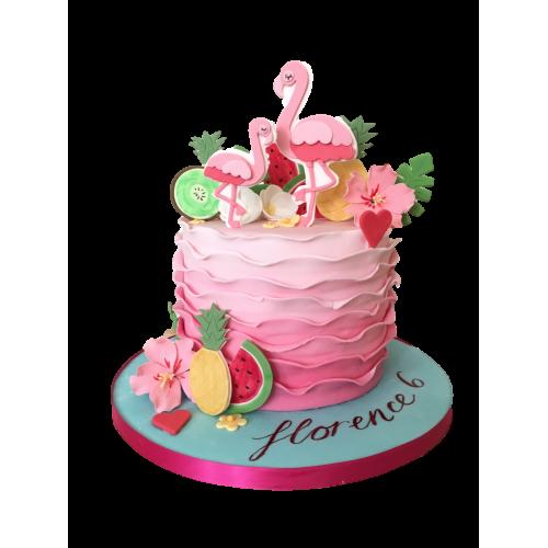 Flamingo cake 3