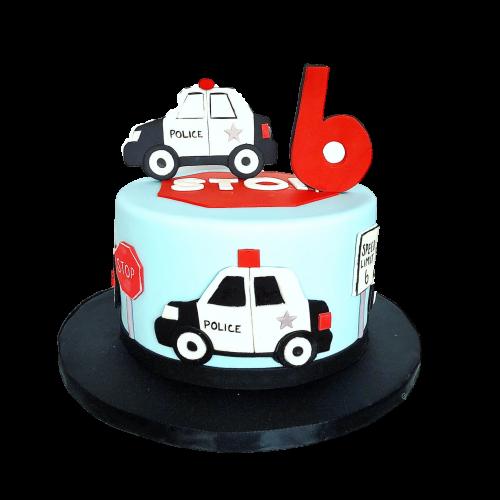 Police Car Cake 2