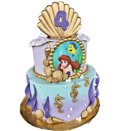 ariel - the little mermaid cake 2 6