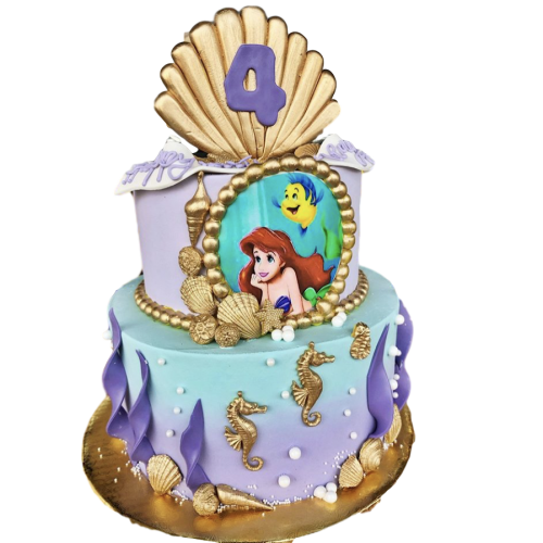 ariel - the little mermaid cake 2 7