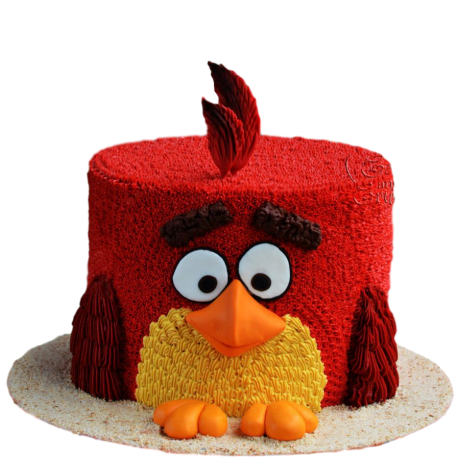 red angry bird cake 6