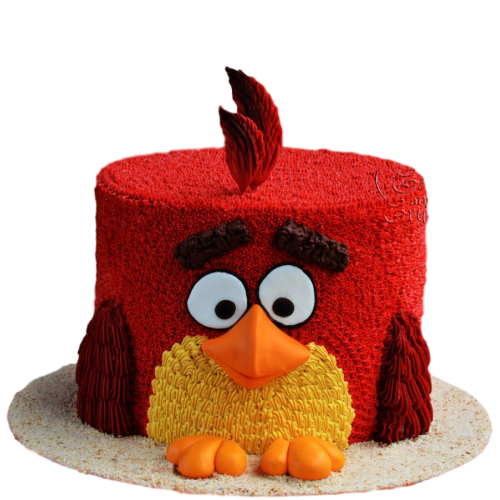 red angry bird cake 7