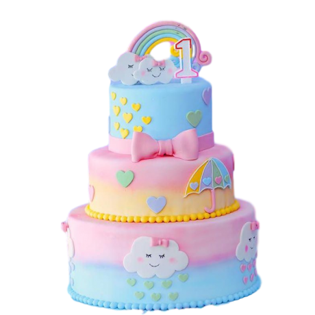 rainbows and clouds cake 6