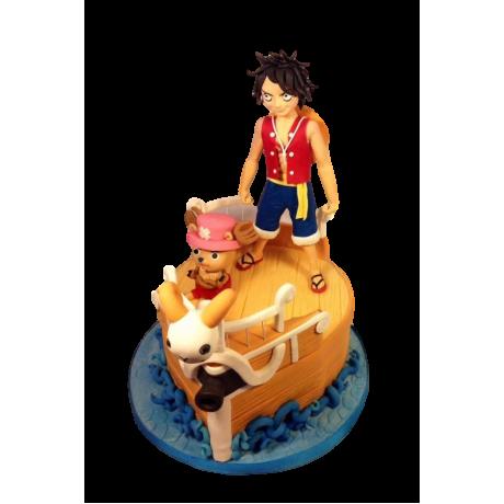 One piece Monkey Luffy cake
