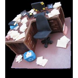 Hard worker desk cake 2