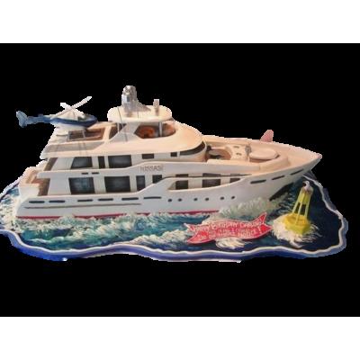 Large Yacht Boat cake 3