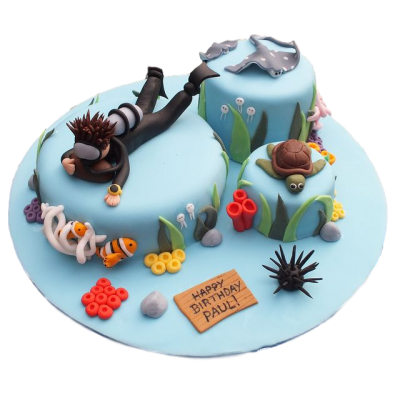 Diving Cake 3