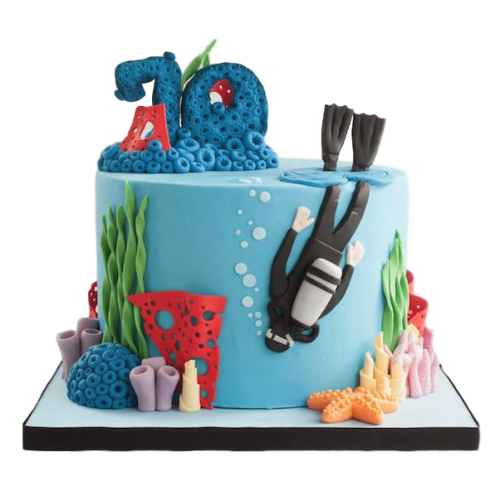Diving Cake 2