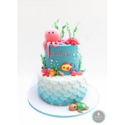 Sea theme cake 11