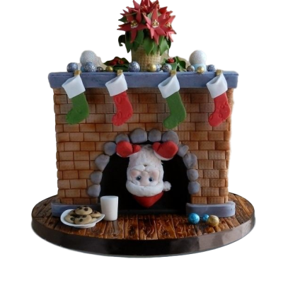 Marry Christmas and Happy New Year Cake