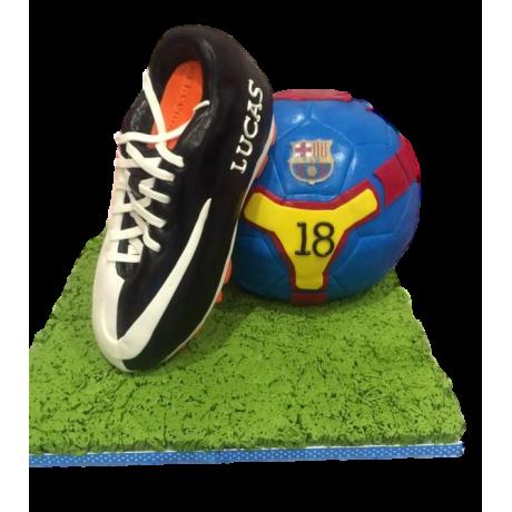 Barcelona shoe and ball cake