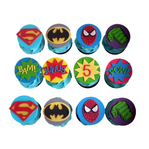 Cupcakes Superheroes